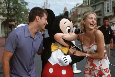 Happy Disney Honeymoon Couple
